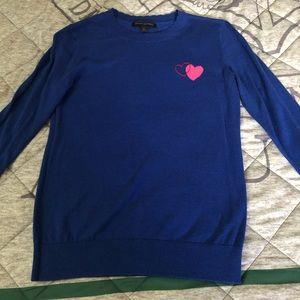 Banana Republic Blue Heart Sweater